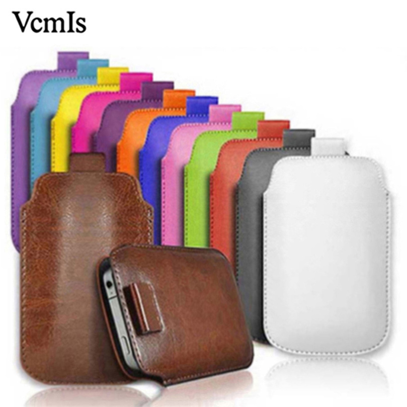 For Digma <font><b>Linx</b></font> <font><b>A501</b></font> Trix 4G PU Leather Pull Tab Sleeve Pouch For Digma <font><b>Linx</b></font> A500 C500 3G Mobile Phone Cases Bag Universal Pouch image