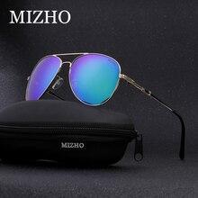 f1e3fa844e MIZHO diseño de marca marrón Acero inoxidable Retro gafas de sol para  hombres, gafas de piloto de viaje de lujo UV400 gafas de s.