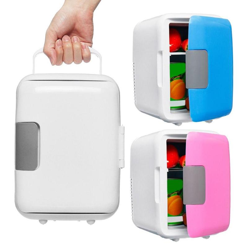 4L New Camping Mini Fridges Electric Cooler And Warmer Home Outside Dual-Use Refrigerator Low Noise AC/DC Portable Cosmetic heat