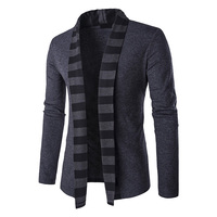 New Arrivals 2017 Fashion Mens Sweater Long Sleeve Cardigan Sriped Collar Male Knited Sweaters Men Casual