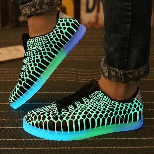 3f5d4b4d5224 Luminous Led shoes women men unisex rubber Fashion Casual Lighted for adults  shoes Casual Fluorescent Light shoes luminous shoes