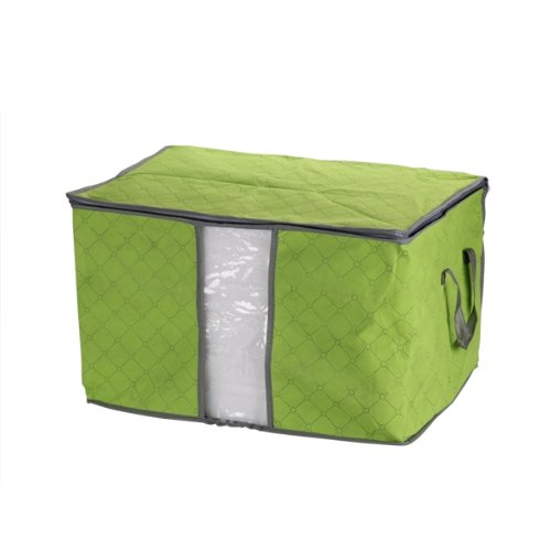 Green Quilt Blanket Pillow Under Bed Storage Bag Box Container Non-woven Fabric