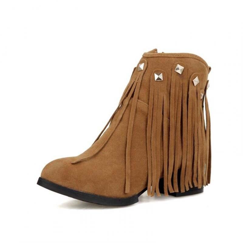 Nouveau Automne loisirs solide noir Gland moto bottes à talons hauts  cheville bottes de mode bout rond zip véritable femmes bottes eb9d6e07b8d