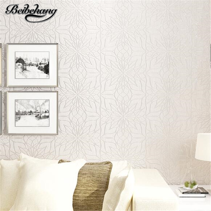 beibehang Living room wallpaper bedroom modern simple 3d stereo imported non-woven TV background wallpaper thick embossed 0 53x10m modern blue gray green simple non woven wallpaper living room bedroom wedding room shop decoration wallpaper