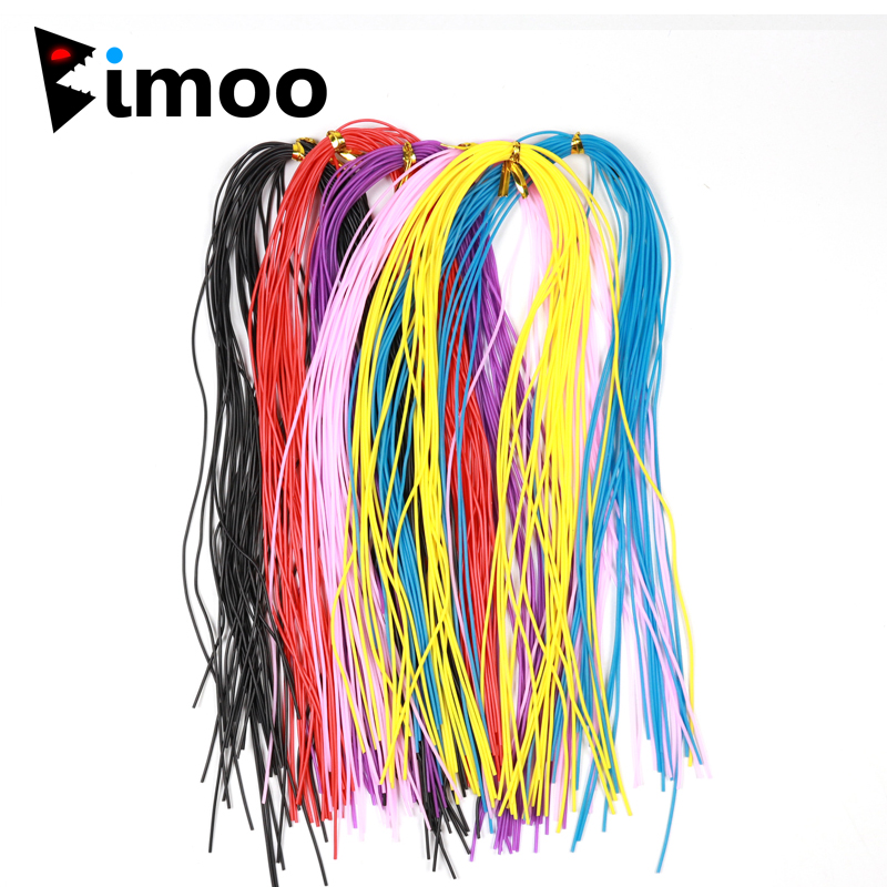 1Pack 1mm Round Silicone Rubber String Fly Tying Legs Fishing Jig Lure Skirts Material