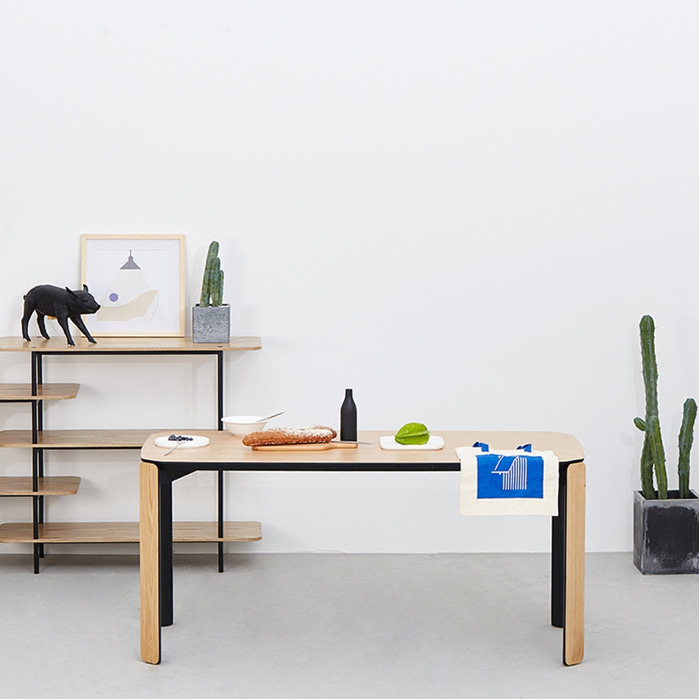 nordic furniture. modern dining table with 16 meter european white oak assemble scandinavian furniture wood design by laselva creative studio in tables from nordic n