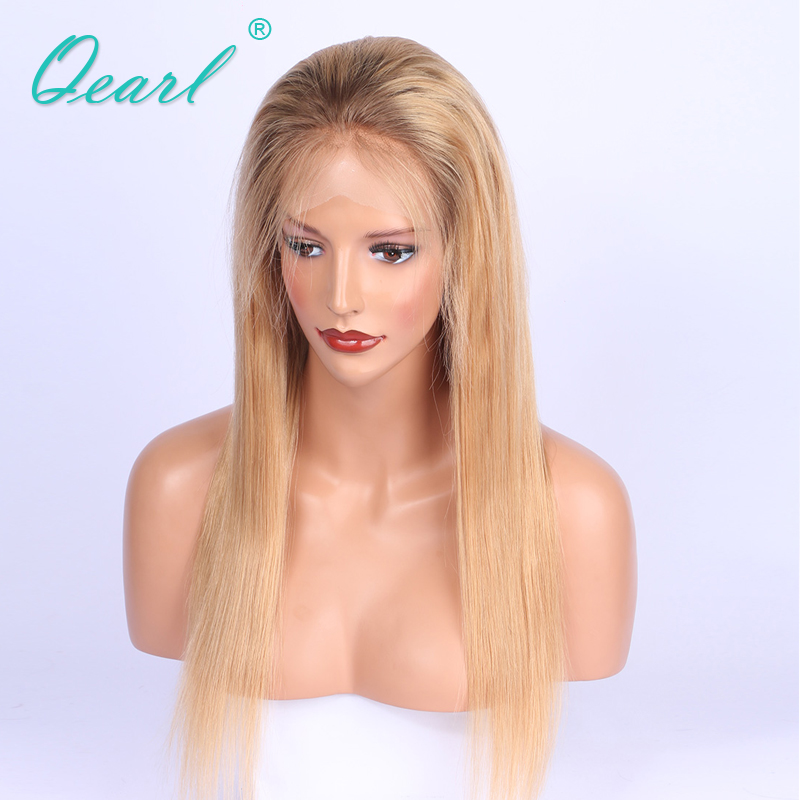 Full Lace Wigs Full Handtied Malaysian Hair Swiss Lace Straight Ombre Human Hair Full Lace Wigs 150% Density Baby Hair Medium