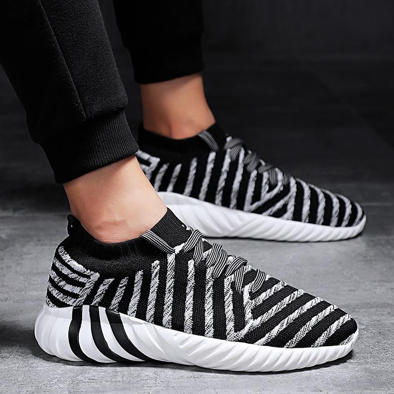 Sport 2019 Respirant Décoration black grey Chaussures Amortisseur Hommes Vol Tissé Chaussettes Totem De Casual Course White Black Nouveau Maille xrgqrYwp
