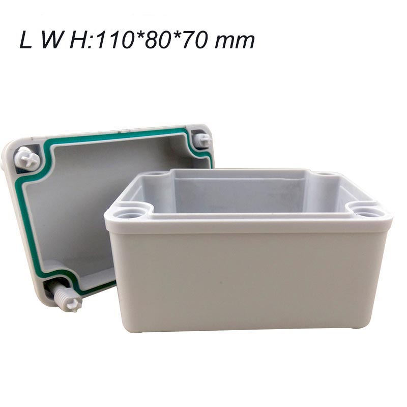 цена на 110*80*70mm 1 pcs project box plastic desk-top electronic ABS Enclosure Instrument Case waterproof IP67 housing case