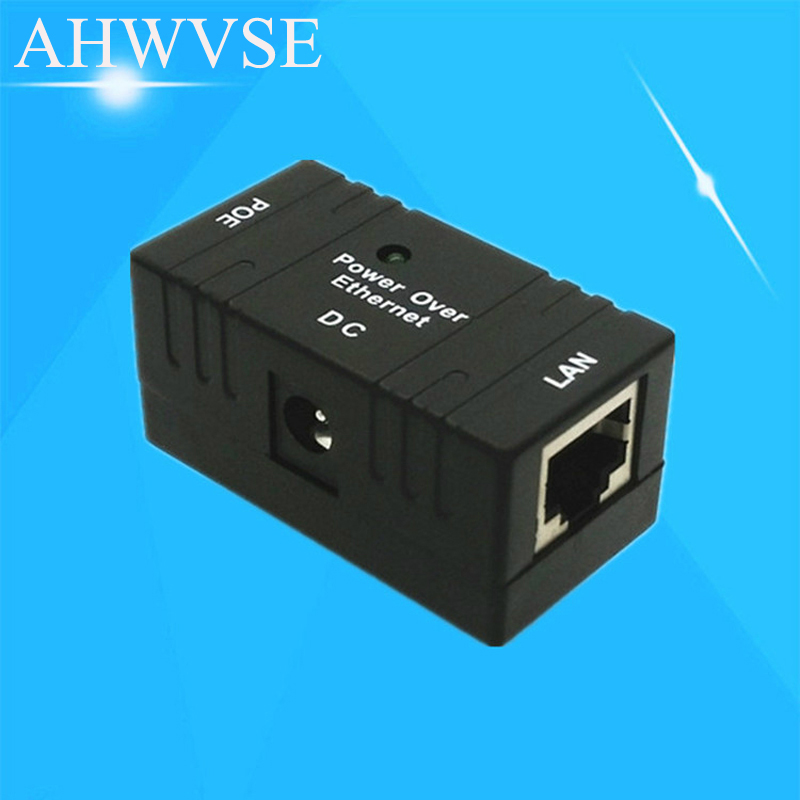 10/100 Mbp Passive POE DC Power Over Ethernet RJ-45 Injector Splitter Wall Mount Adapter For IP Camera LAN Network 1PC eu uk standard sesoo light switch 2 gang 1 way crystal glass touch screen switch panel ac110v 250v wall switch led indicator