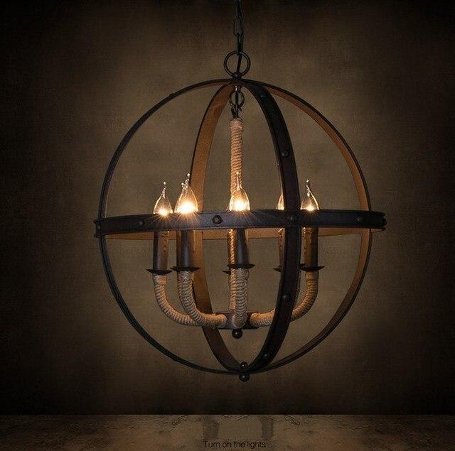 acheter industrielle m tal corde lustre ch teau pendentif lampe vintage edison. Black Bedroom Furniture Sets. Home Design Ideas