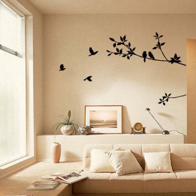 New PVC Removable Tree Bird Art Vinyl Quote Decal Mural Room - Wall decals 2016