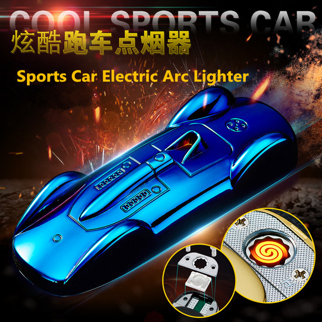 Mini Cool Sports Car USB Electric Arc Plasma Lighter Creative Replacement Electric Wire Cigarette Lighter Men Gifts Gadgets