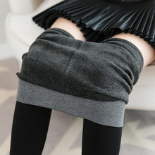 Women Leggings Winter High Waist A181 Imitation Cashmere Fever Fiber Pants Plus Velvet Thick High-density Nylon Layered Leggings