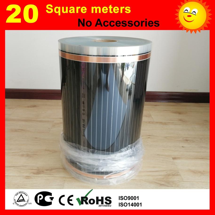 20 mètre carré film Chauffage Par le sol (Sans accessoires), AC220V infrarouge lointain chauffage film 50 cm x 40 m