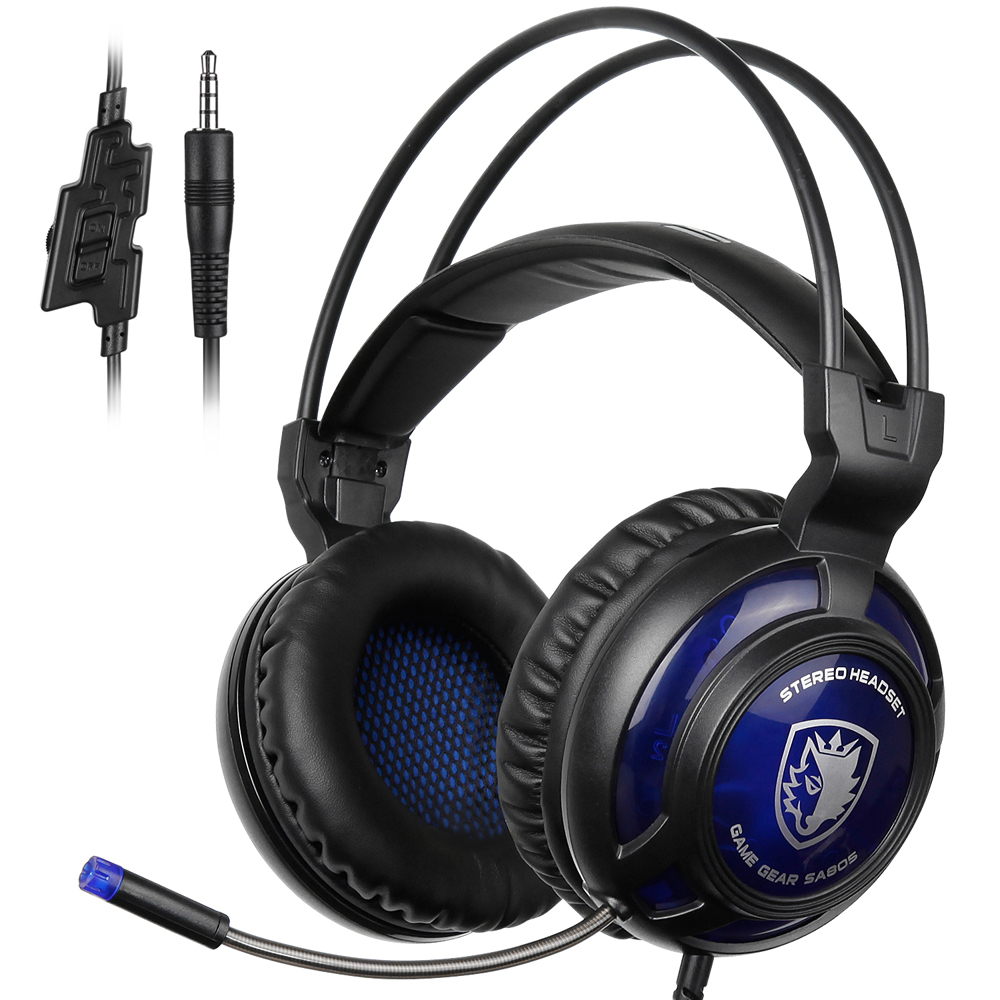 SADES SA-805 3.5mm Gaming Headsets with Microphone Noise Cancellation Music Headphones for PS4 Laptop Tablet PC Mobile Phones dreamersandlovers bluetooth earbuds with microphone comfortable headphones with noise cancellation up to 7 hr music play black