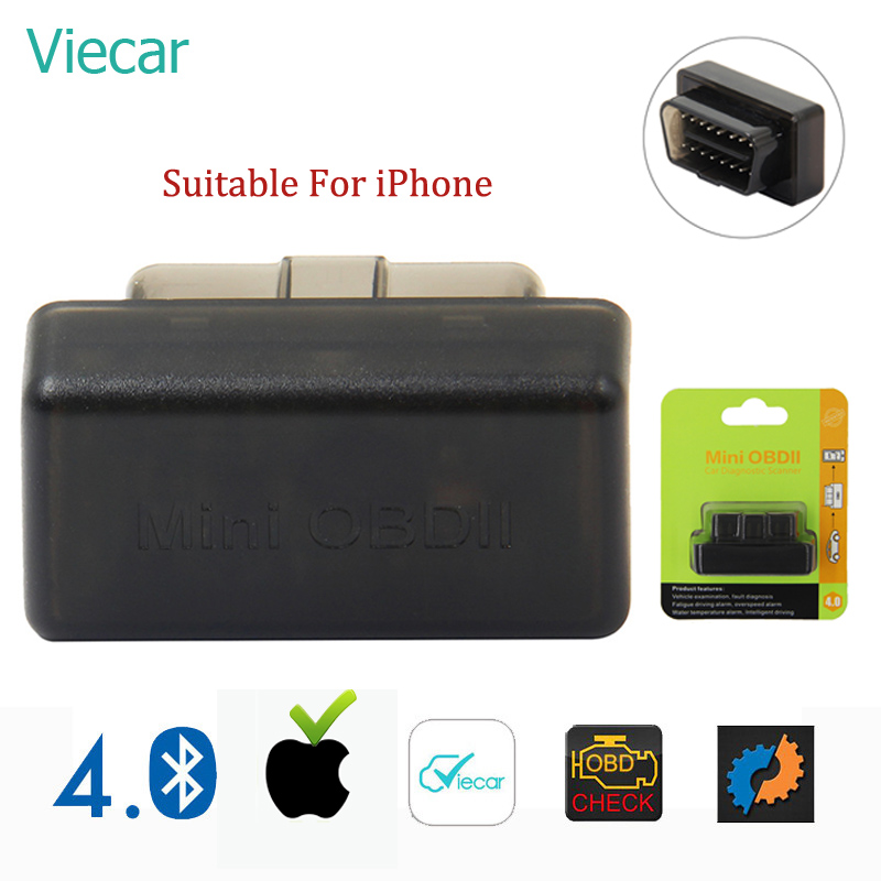 Viecar ELM 327 Bluetooth OBD2 Auto Scanner Mini ELM327 OBD 2 Bluetooth Adapter eml327 Car Diagnostic Tool For iPhone/Android