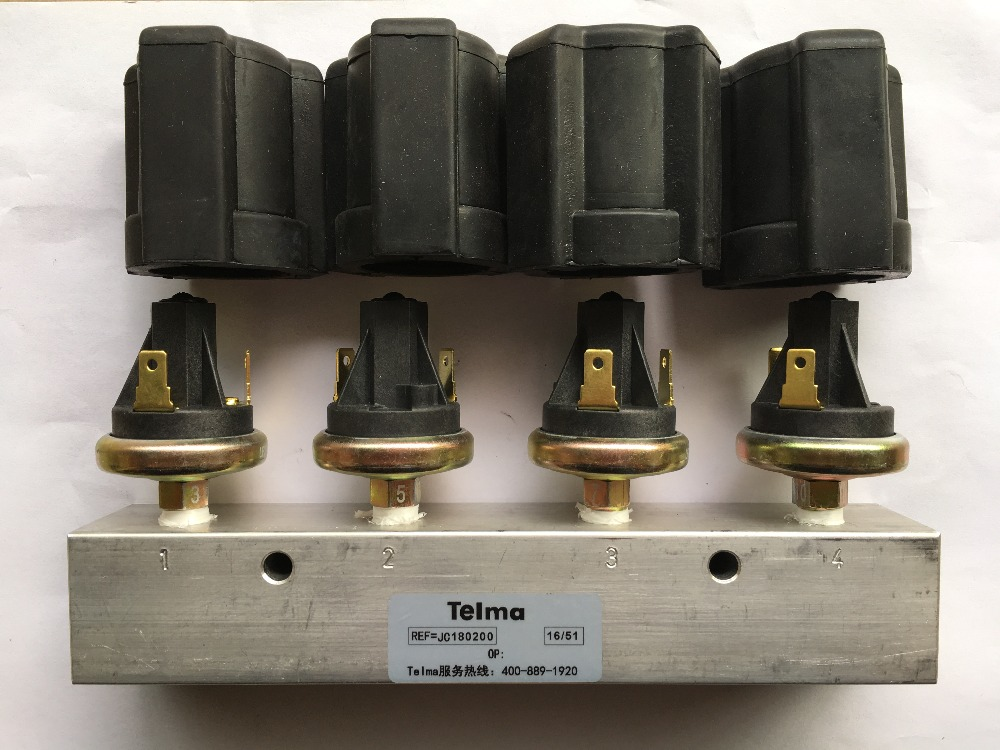 Bus part Telma retarder JC180200 air pressure switch assembly with four gears for Yu tong bus