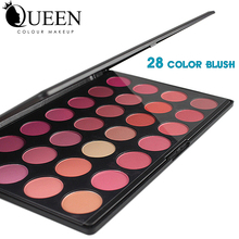 QUEEN Brand 28 Colors conceder Blush Palette  Makeup Rouge in Bronzers and Highlighters Baeuty Make up Blush AB28