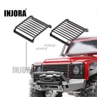 2Pcs TRX4 Metal Black LED Headlight Cover Guard Grille For 1 10 RC Crawler Car Traxxas