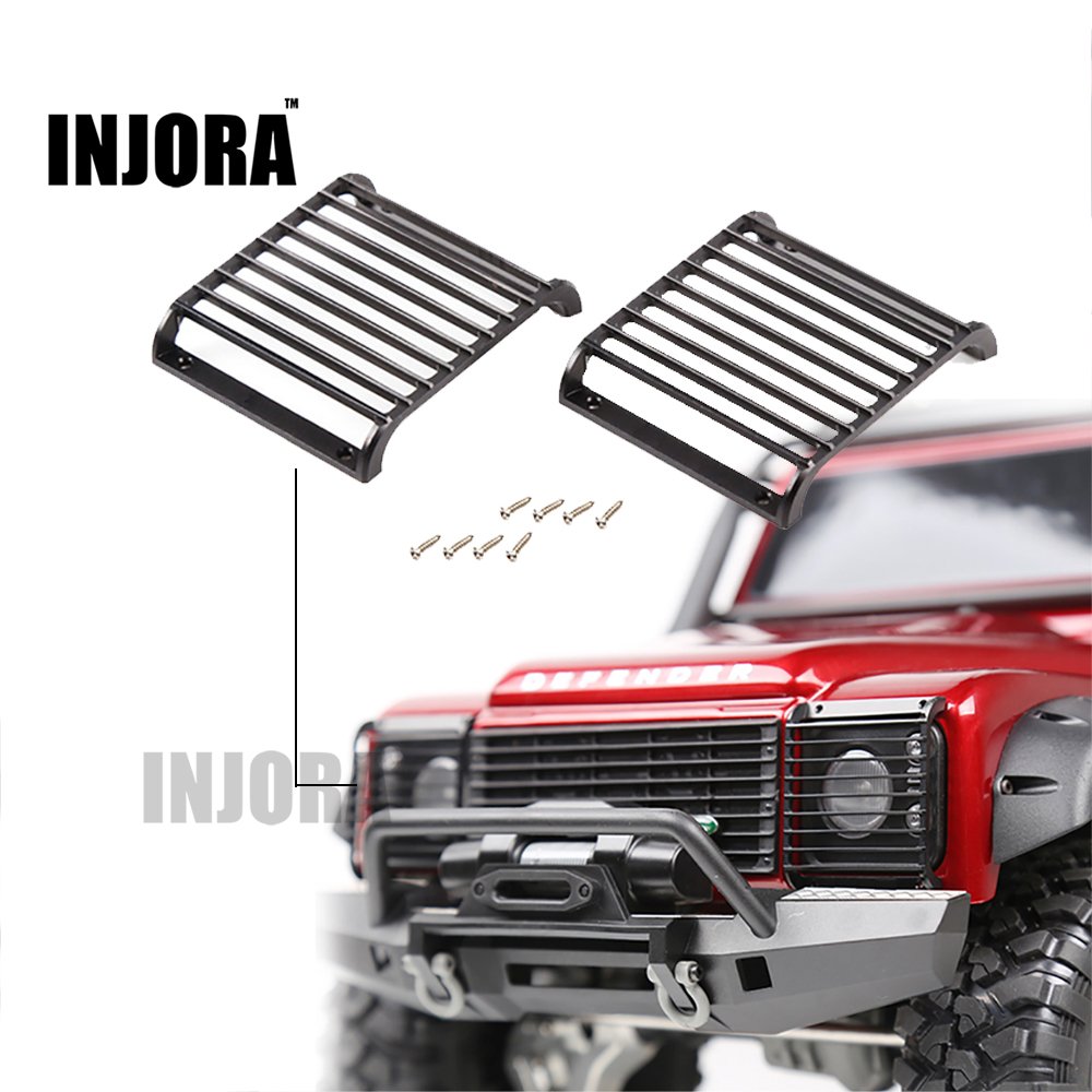 2Pcs TRX4 Metal Front Lamp Guards Headlight Cover Guard Grille for 1/10 RC Crawler Car Traxxas TRX-4 T4