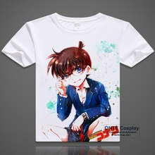 Japan Anime Detective Conan T Shirt Kaitou Kiddo Funny Cool T-shirts Case Closed Short Sleeve Printed Tops Kid Tees