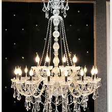 K9 Crystal Lustres-De-Cristal Chandelier Candle Light-Height Extra Long Stair 150cm Lobby