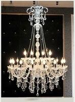 Frete grátis extra longo grande escada k9 lustre de cristal lustres vela exportação k9 lobby luz altura 150cm