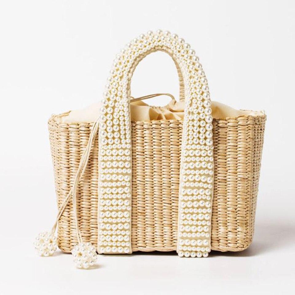 Beach Bag with Pearl (1)