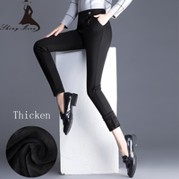 SHINYMORA Winter Thicken Warm Women Pencil Pants 2017 High Waist Slim Casual Pants Skinny Stretch Trousers