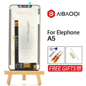 Image 2 - AiBaoQi New Original 6.18 inch Touch Screen+2246x1080 LCD Display Assembly Replacement For Elephone A5 Android 8.1 Phone