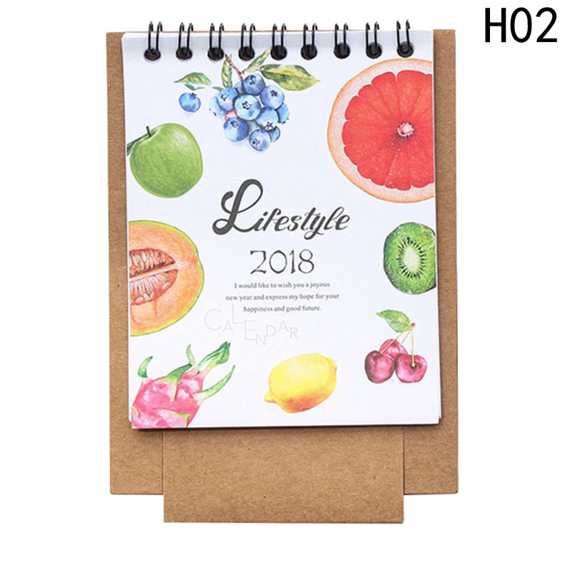 Office & School Supplies 19*8.3cm Creative Desk Standing Paper Multifunction Organizer Schedule Planner Notebook 2018 Year New Kawaii Cartoon Calendar Calendar