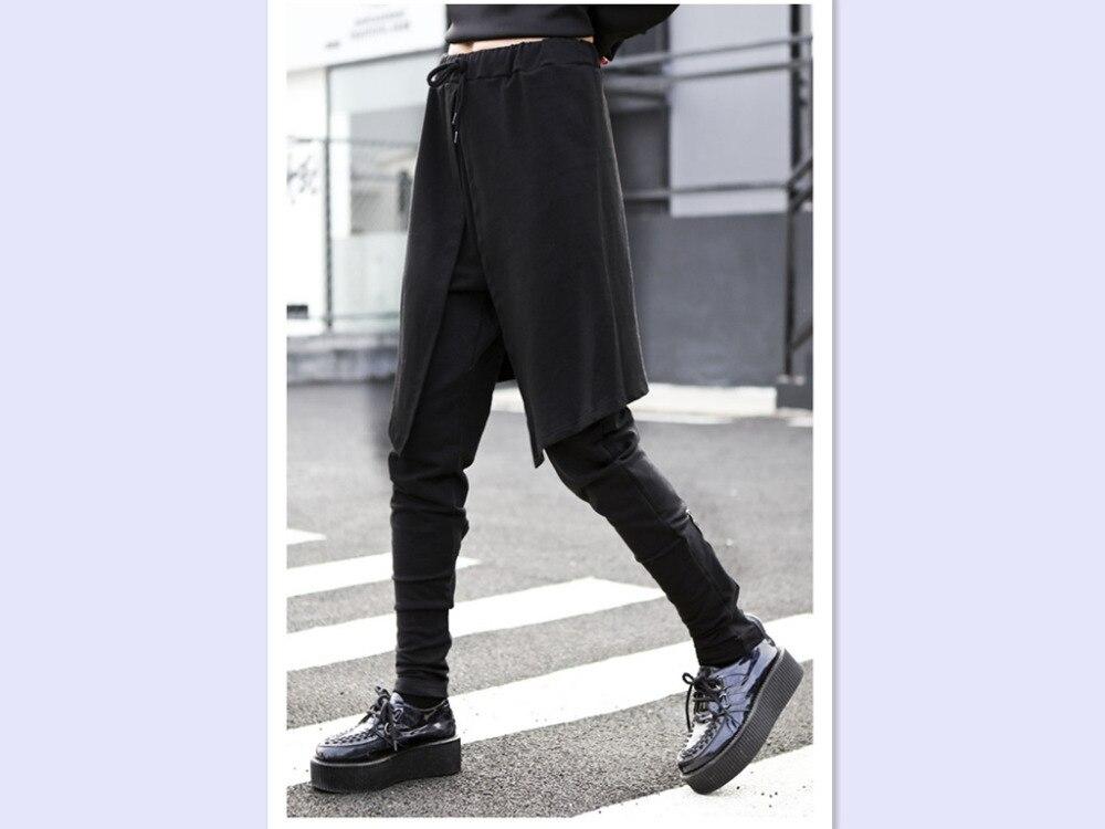 Pantalon Harem Streetwear Personnalité Jambe Jupe Vêtements Femmes Casual Cargo Marée Salopette Large Harajuku Irrégulière g4dxnq4rT