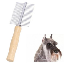 2019 Pet Supplies Pro Rake Double Row Stainless Steel Comb Brush For Dogs New Design for Small Medium Large