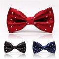 Envío Libre de Colores de Moda Ajustable Puntos Gravata Bowtie Wedding Party Corbata Mariposa Pajarita Clásica Para Hombres
