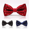 Free Shipping Male Colorful Fashion Adjustable Dots Gravata Bowtie Party Wedding Cravat Butterfly Classic Bow Tie For Men
