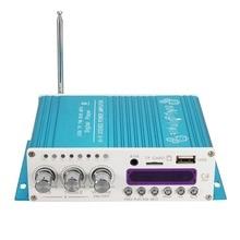 Blue 12V Digital Mini Bluetooth HiFi Stereo Car Audio Amplifier AMP MP3 Player F