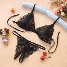 Прозрачный Baby Doll Экзотическая одежда, комбинация нижнее белье Для женщин сексуальный бюстгальтер+ трусики-стринги сексуальные костюмы, эротическое нижнее белье