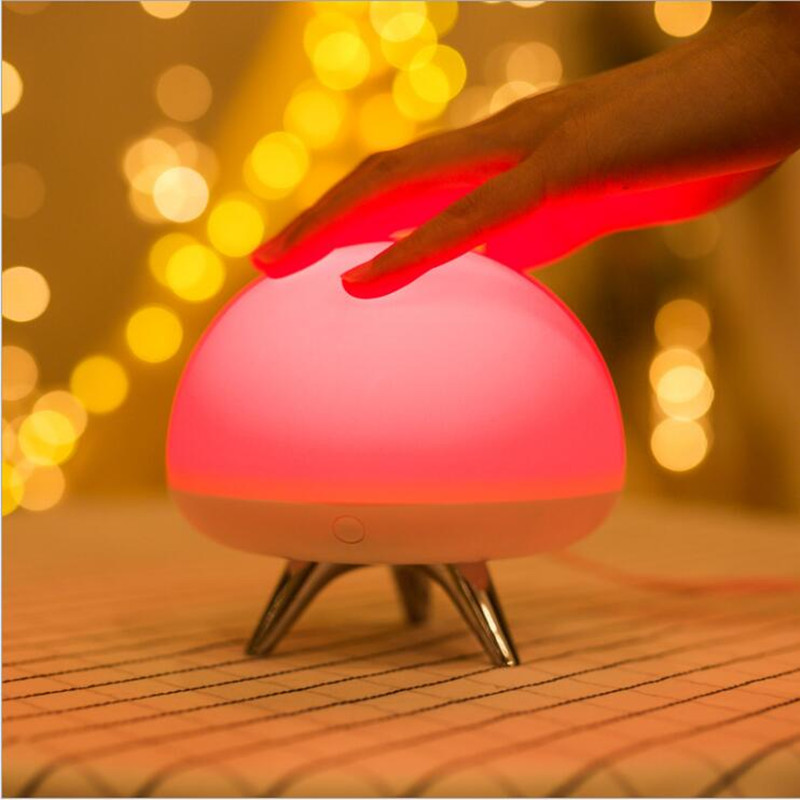 USB Rechargeable Touch Night Light Color change LED Light Silicone Night Lamp for Child Bedroom table lamp decoration for gift led remote control colorful eggs rechargeable bar table lamp ktv night club light dimming color led night light free shipping