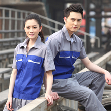 Summer short-sleeve work put on set male workwear work put on summer time protecting clothes