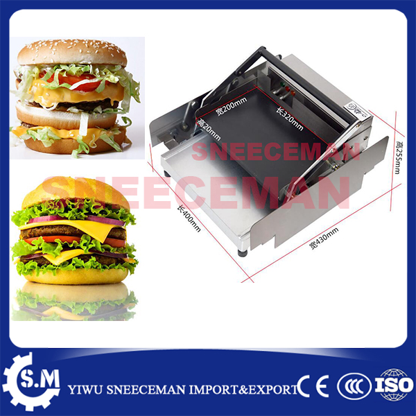electric commercial Hamburger Machine stainless steel Hamburger Machine Dryer Charter machine free ship new premium fast food equipment commercial package double grilled hamburger machine price