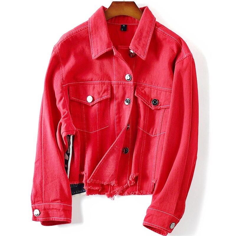 Veste courte femme rouge