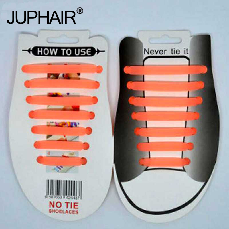 JUP 1-12 Sets(14Root/Set)luminous Night Orange Unisex Fashion Women Sports Men Shoelaces Laces Elastic Silicone Shoe Sneakers