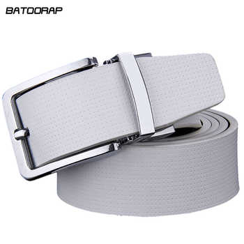 Cowhide Designer Luxury Belt Men Male Waist Strap Leather Pin Buckle White Genuine Leather Belts For Men Pants Band Ceinture - DISCOUNT ITEM  40 OFF Apparel Accessories