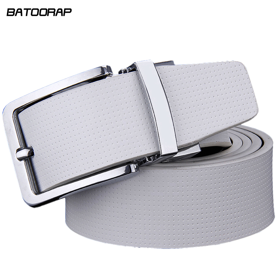 Cowhide Designer Luxury   Belt   Men Male Waist Strap Leather Pin Buckle White Genuine Leather   Belts   For Men Pants Band Ceinture