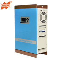 Wall Mounted 2000W 48V to 110V 220V Hybrid Controller Inverter Off Grid Solar Power Charger Pure Sine Wave with LCD Display CPU