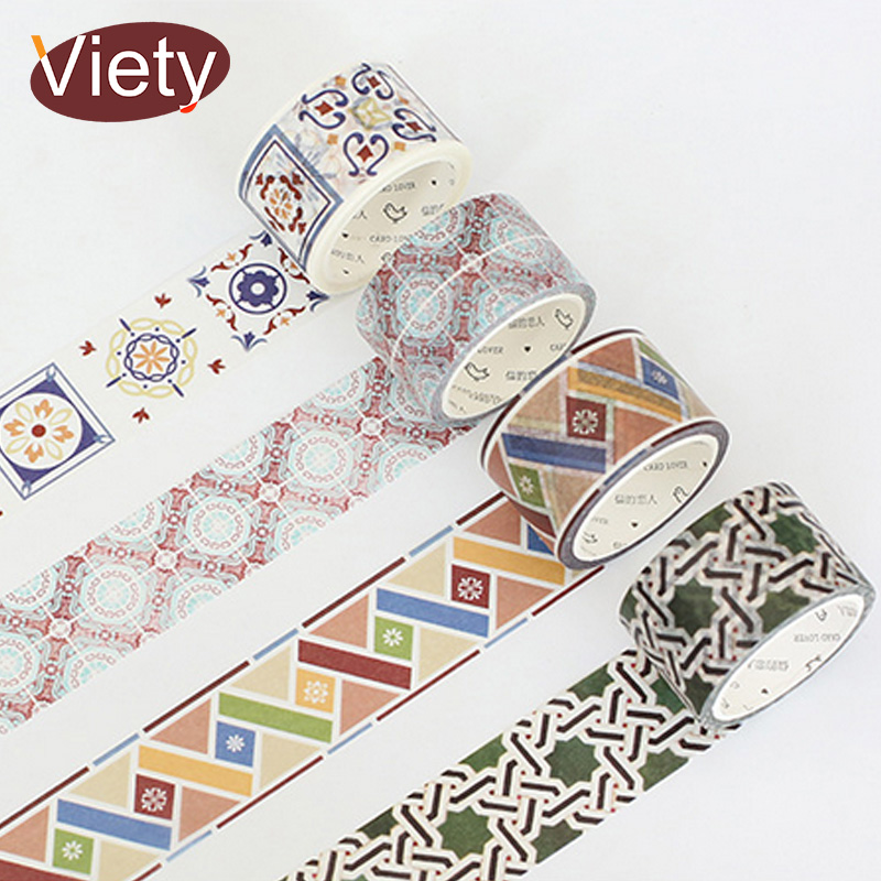 3cm*7m Home decoration pattern washi tape DIY decorative scrapbook planner masking tape adhesive tape stationery school supplies 2017 new arrival masking decorative tape day of the week black white school stationery scrapbooking tool office adhesive tape 7m