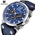 2018 новые BENYAR модные хронограф спортивные мужские часы лучший бренд класса люкс силиконовые кварцевые военные часы Relogio Masculino