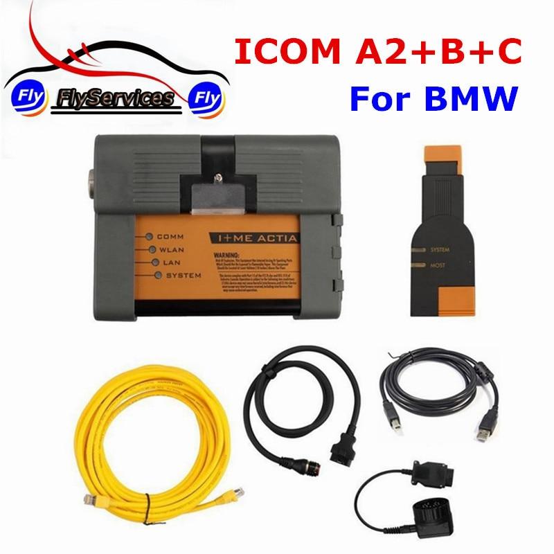 Новое поступление для БМ ICOM A2 + B + C диагностики и программирования инструмент без Программы для компьютера ICOM A2 второе поколение ICOM высокое ...