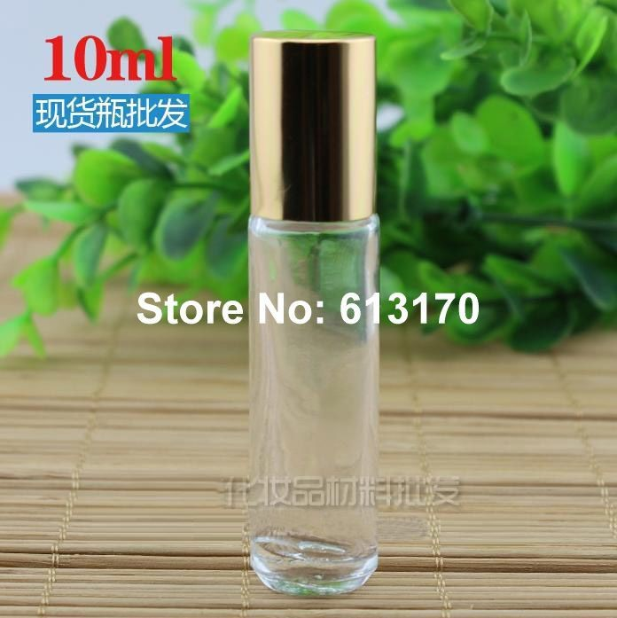 10ML Glass Clear Roll on Bottle with Steel Roller Parfum Vials Portable Sample bottle Empty Refillable